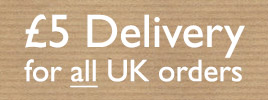 five pounds delivery for all UK orders